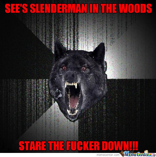 Insanity Wolf Vs. Slenderman