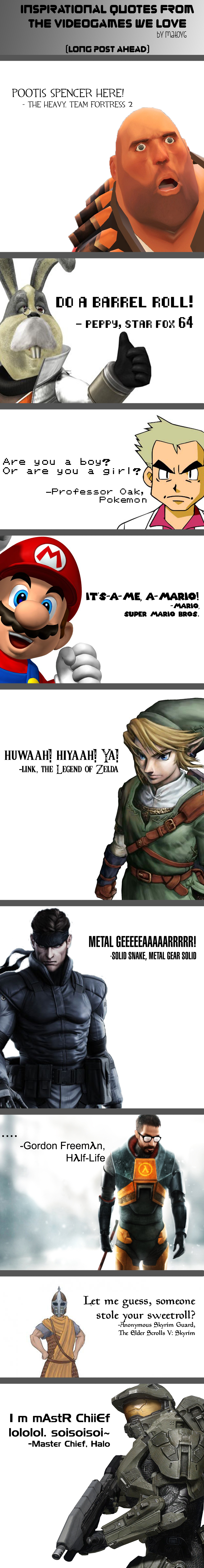 Inspirational Quotes From The Videogames We Love