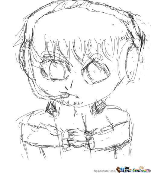 Intense Gaming Concentration (Sketch)