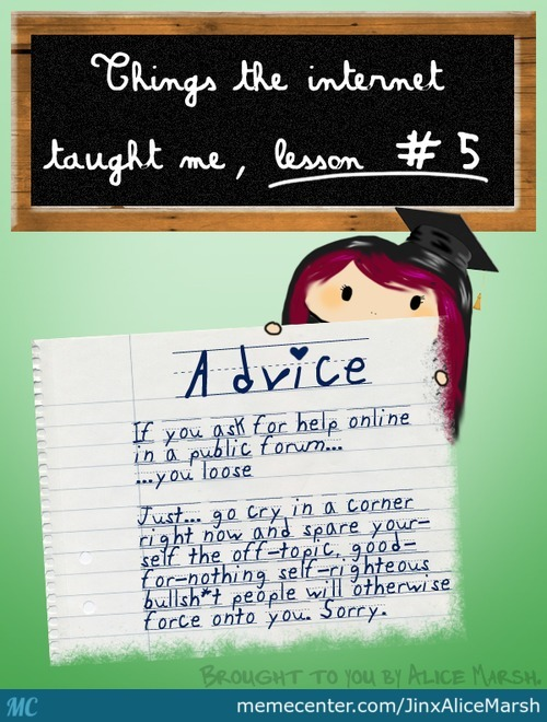 Internet Lessons #5 - Advice