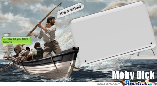 Iphone Moby Dick!