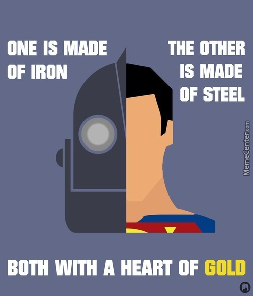 Iron Giant & Superman Poster