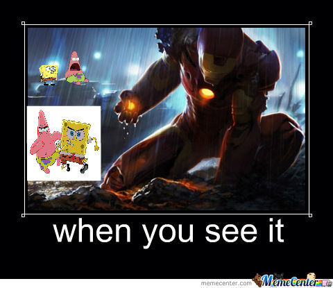 Iron Man And Spongebob
