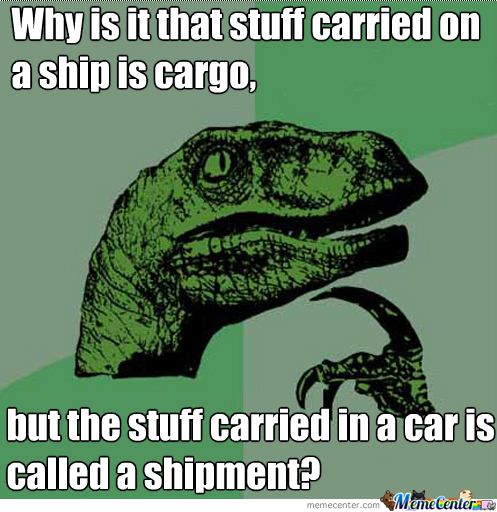Is It Cargo Or A Shipment