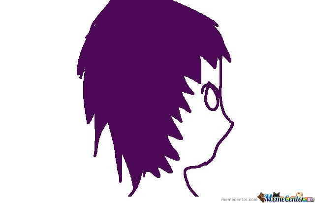 It's A Self Portrait Of Me Coloured Purple.