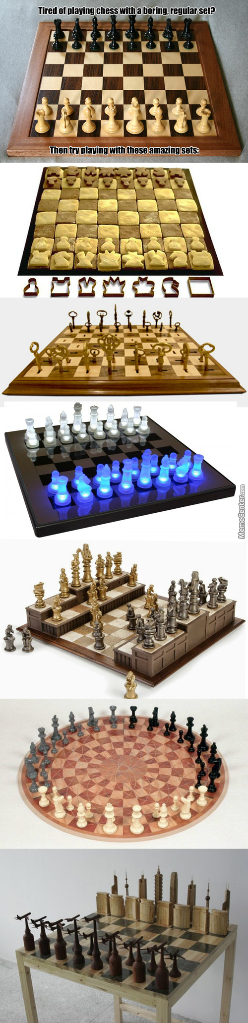 It's Still Chess, But It's Fun Paying With Cool Sets
