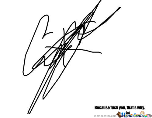 It Looks Like A Signature