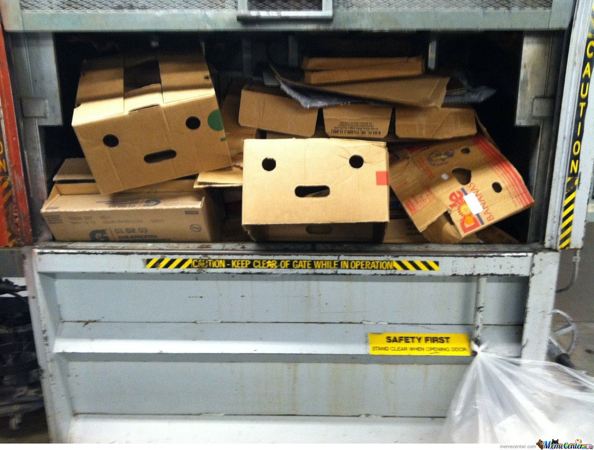 I've Never Felt So Terrible About Crushing Boxes At Work Before...
