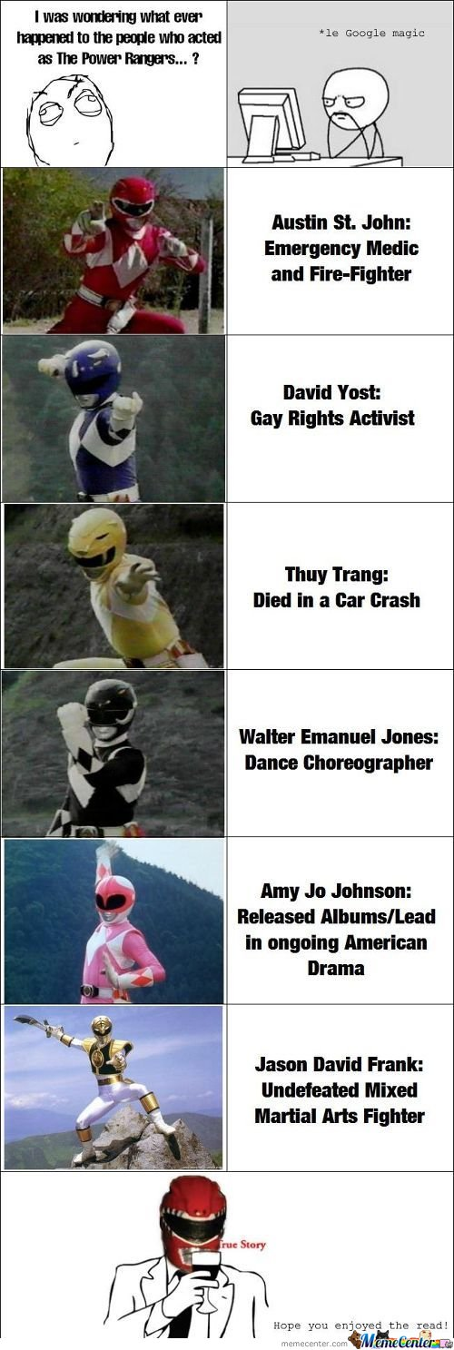 I Was Wondering What Ever Happened To People Who Acted As The Power Rangerss