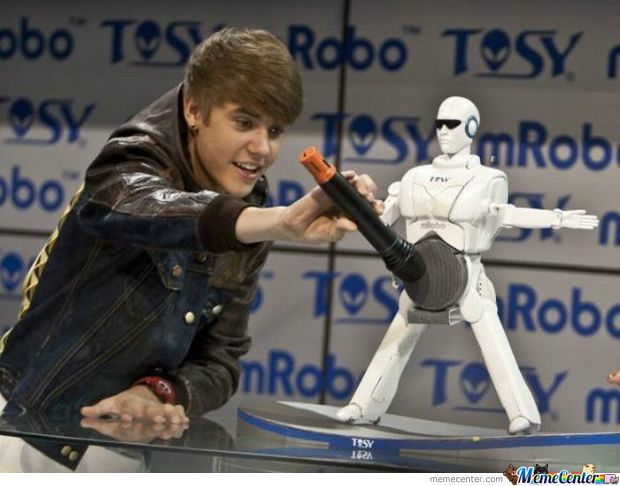 J. Bieber Giving A Handjob To His New Tiny Robot Boyfriend