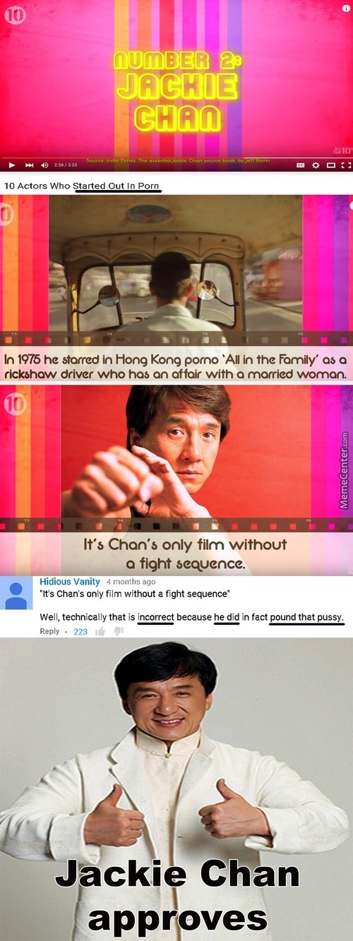 Jackie Chan Approves