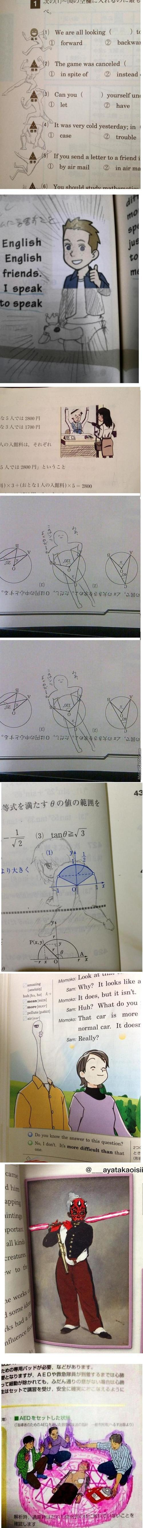 Japan'S Really Good At Textbook Doodles