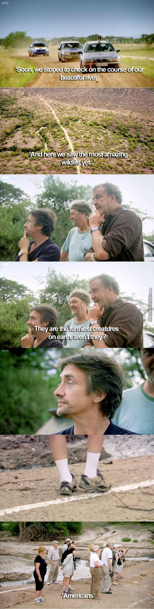 Jeremy Clarkson Burns (The Fat) Of Another American
