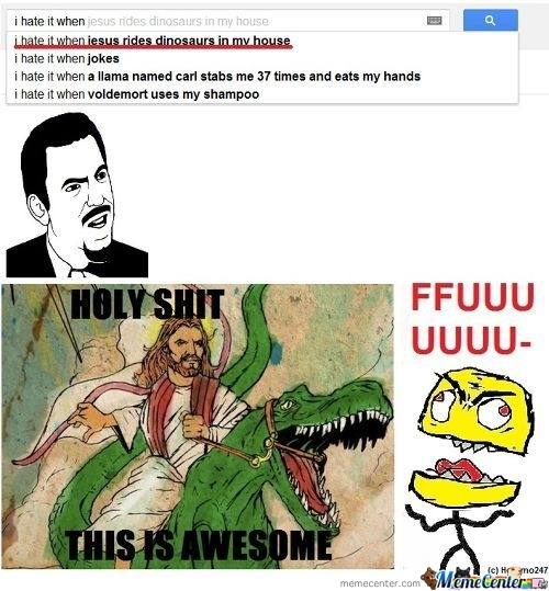 Jesus Riding Dinosaur