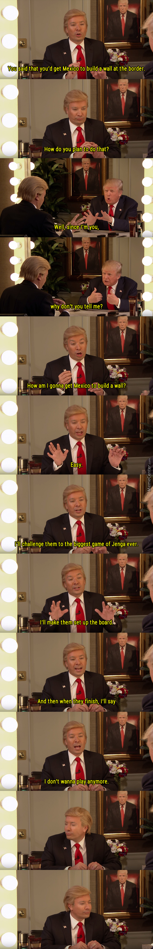Jimmy Fallon Interviews Donald Trump, Or The Other Way Around.