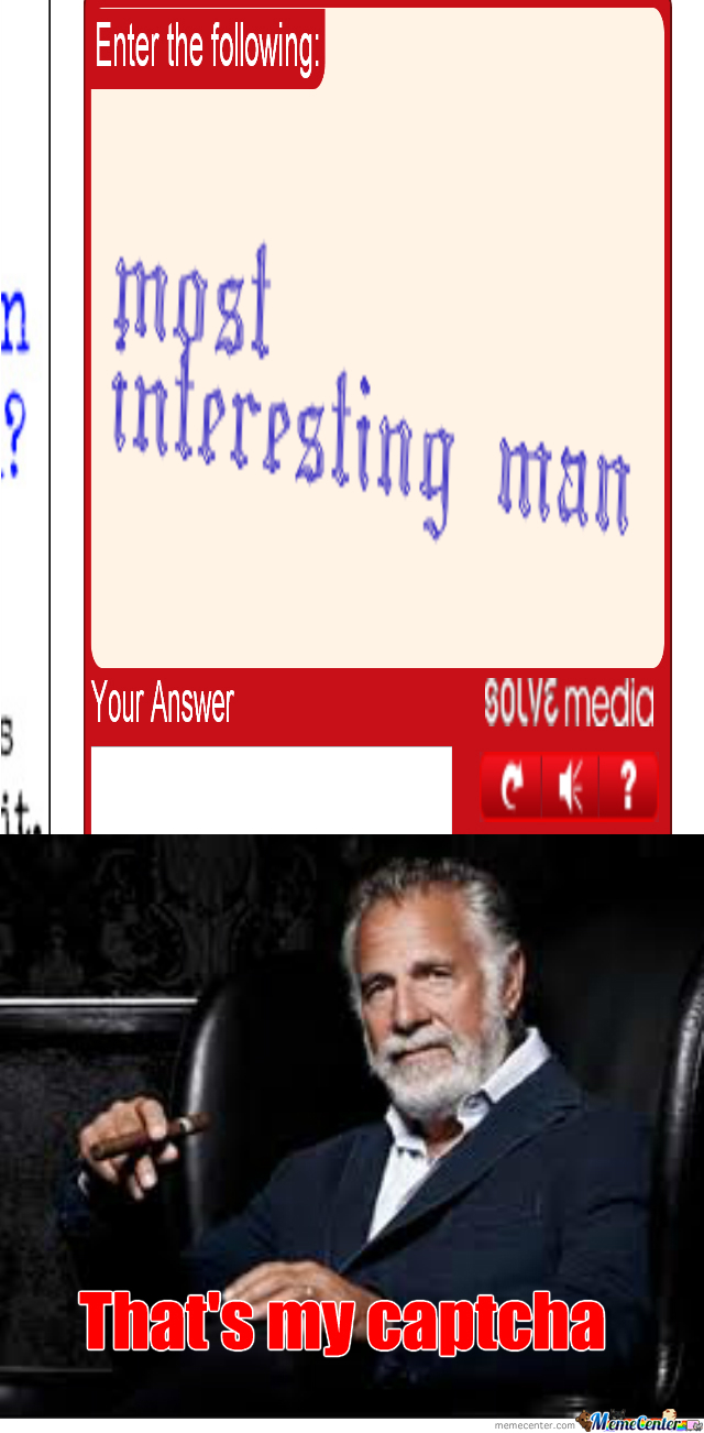 Jonathan Goldsmith's Captcha