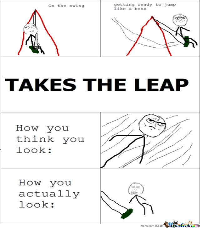 Jump From Swing
