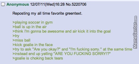 Just 4Chan Greentexts