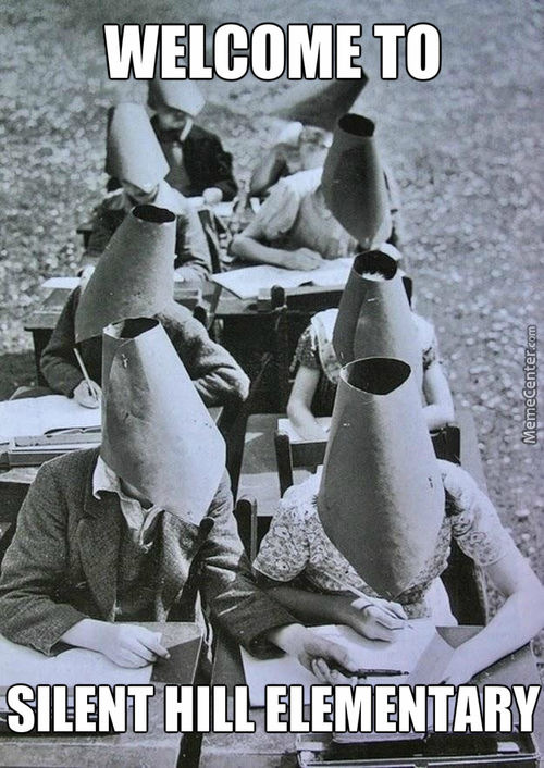 Just A Bunch Of Young Pyramid Heads Studying