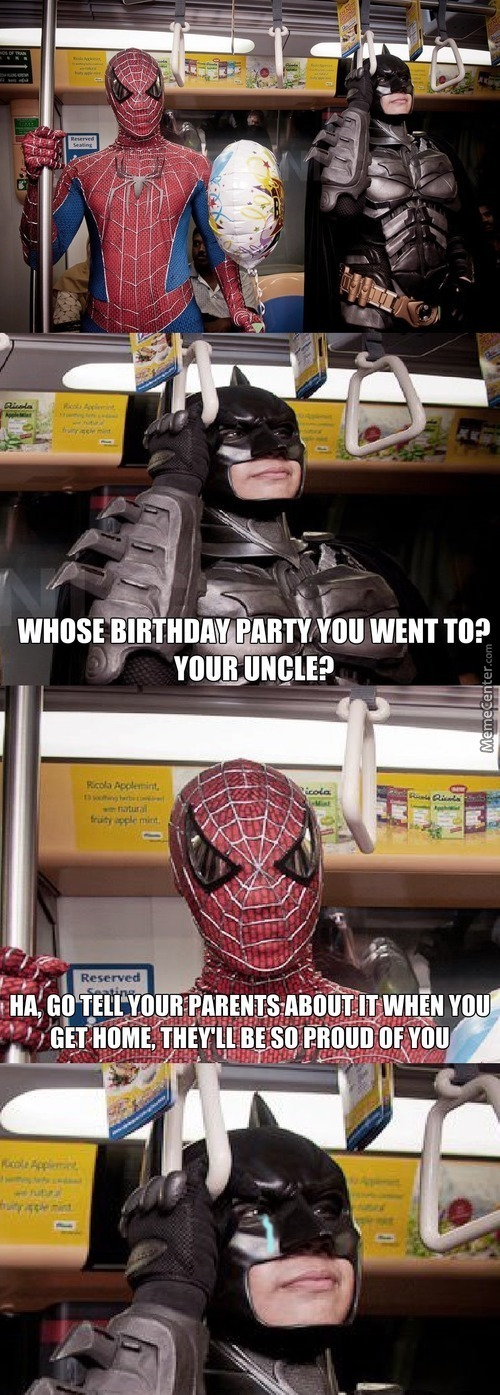 Just A Normal Conversation Between Batman And Spiderman