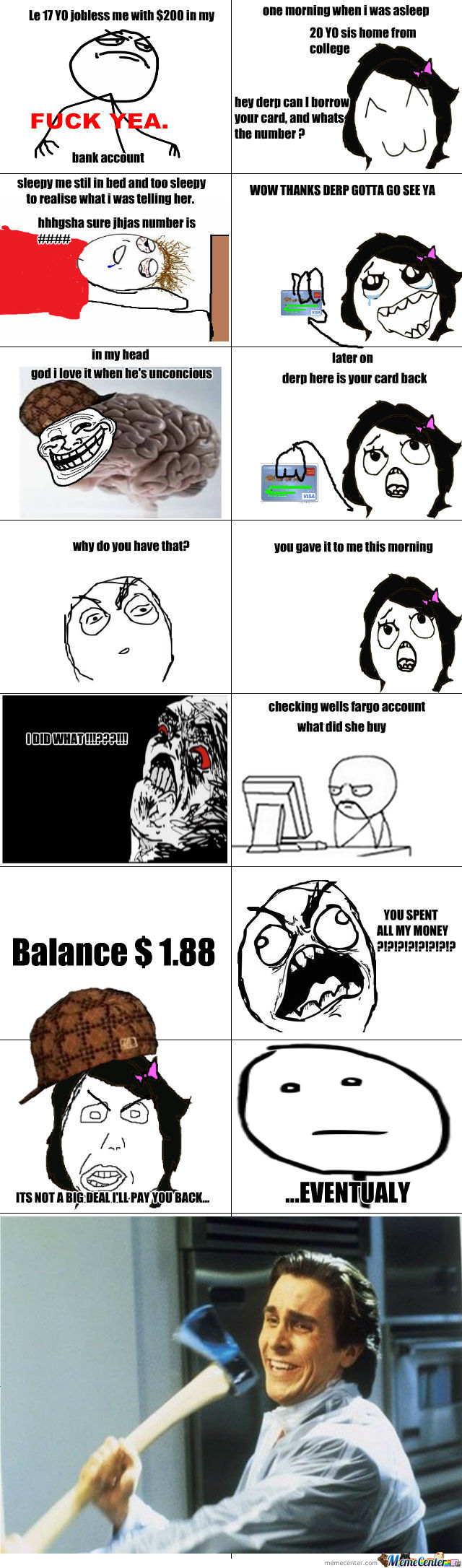 Just A Normal Rage Comic. Btw True Story