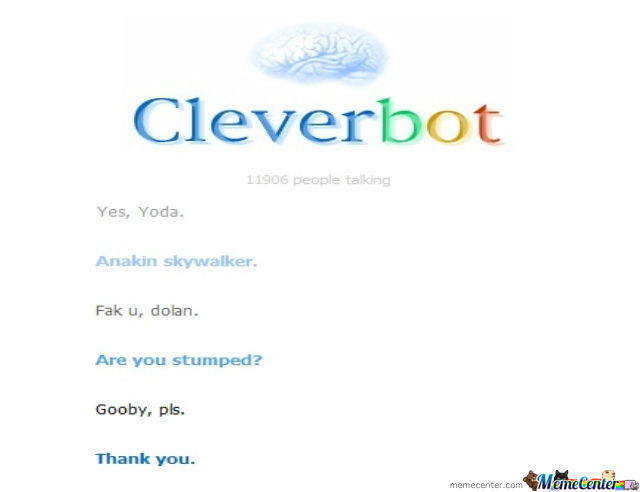 Just Another Conversation With Cleverbot