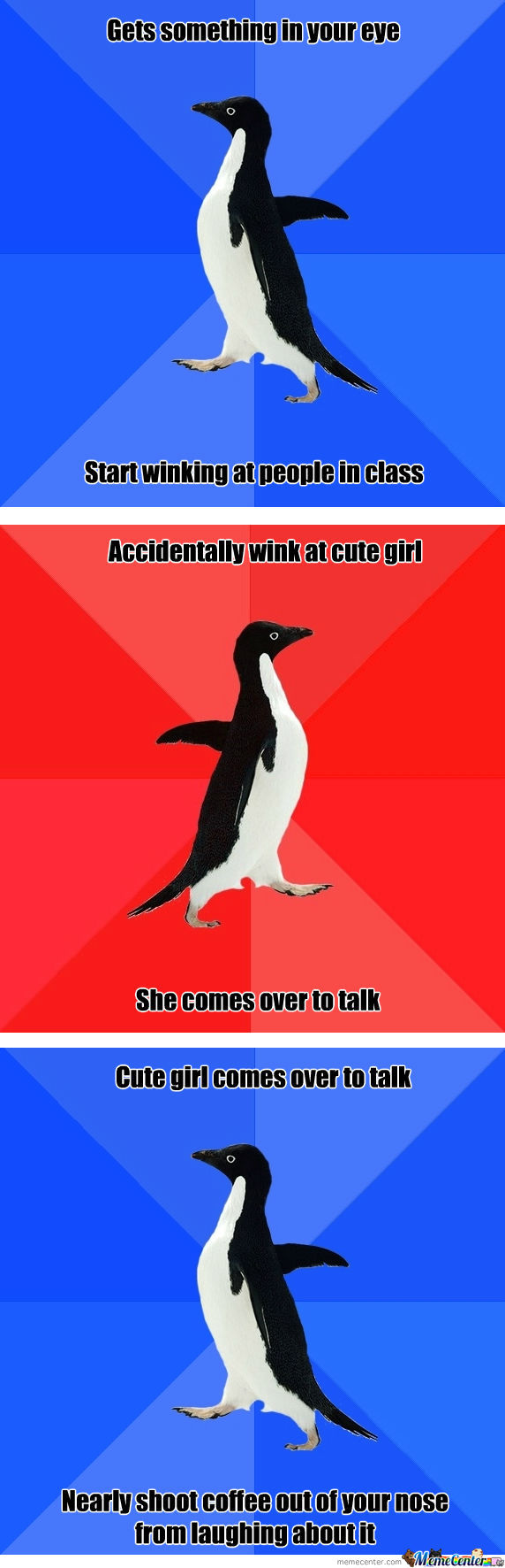 Just Another Effect Of Being A Socially Awkward Penguin.