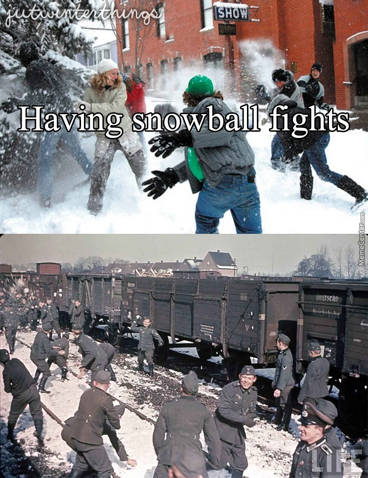 Just Nazis Enjoying The Winter Weather