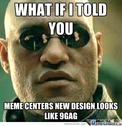 Just Realized Memecenter Stolen Design From 9Gag!