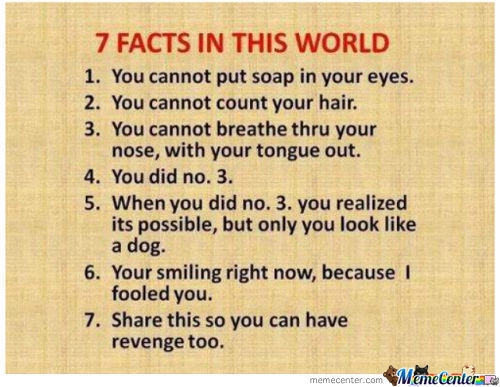 Just Sharing Some Facts