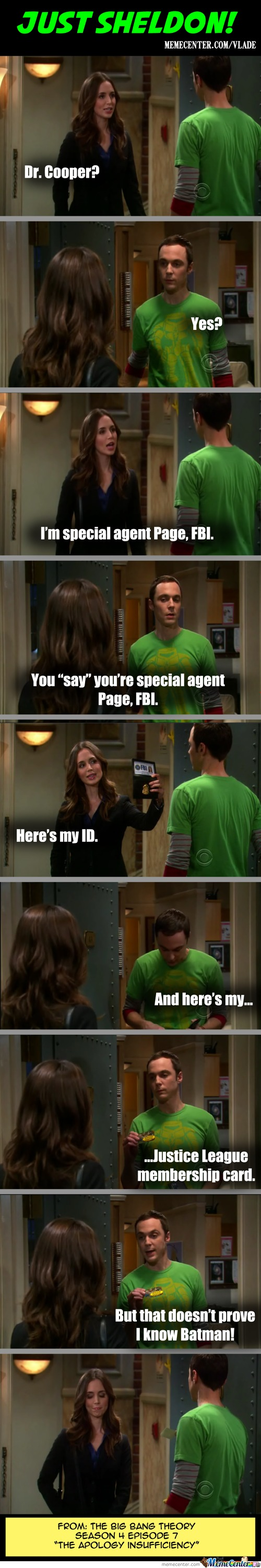 Just Sheldon!