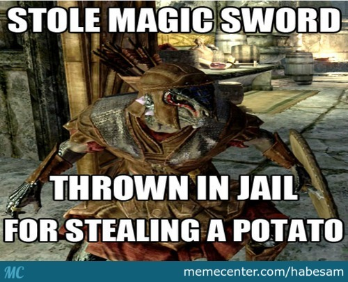 Just Skyrim's Logic ..