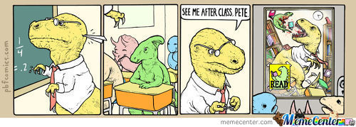 Just Some Dinosaurs In Class