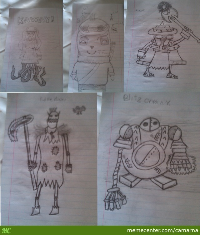 Just Some Stuff I Drawn On Class