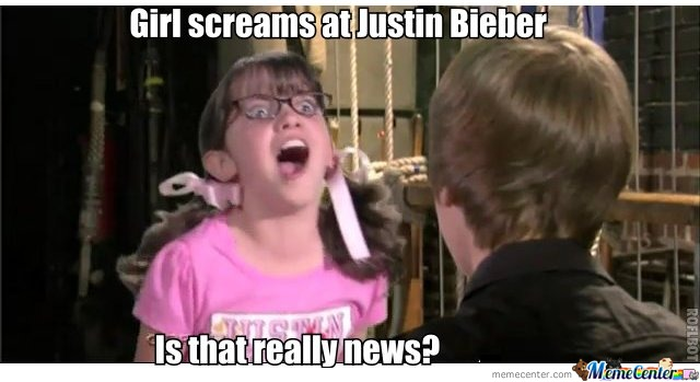 Justin Bieber Girl Screaming
