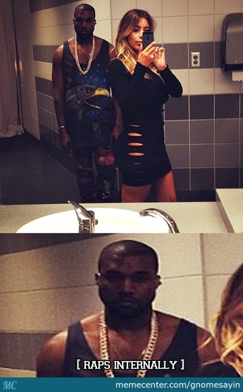 Kanye Is Getting Real Tired Of Kim's Selfies