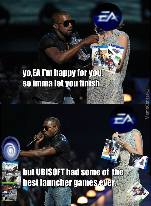 Kanye West Is Happy For Ea ,but Ubisoft Had Black Flag And Watchdogs.