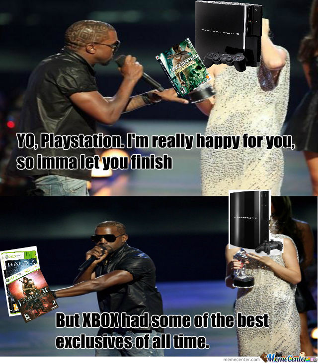 Kanye West Is Happy For Ps3, But Xbox Had Halo.