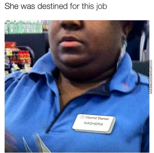 Kashera Was Destined To Be A Cashier