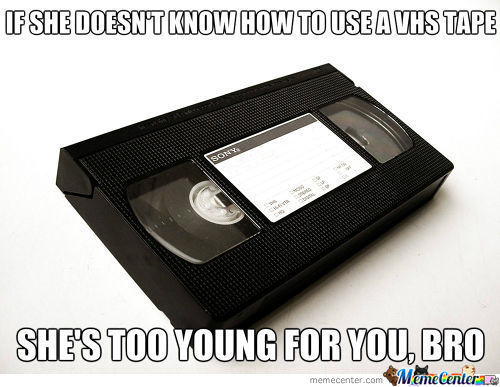 Kids These Days With Their Newfangled Dvds