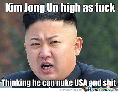 Kim Jong Un High As Fuck...