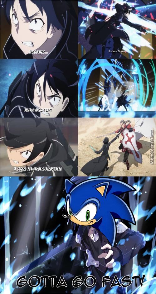 Kirito Wants To Be Sonic