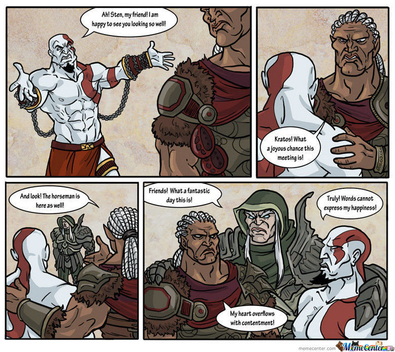 Kratosmeets His Friends ! (Credits To The Artist)