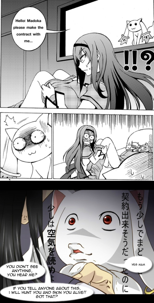 Kyubey Knew What True Fear Is That Day (Puella Magi Madoka Magica)
