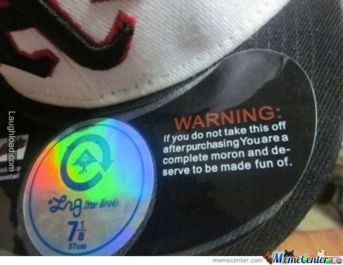 Label On Hipster Hat