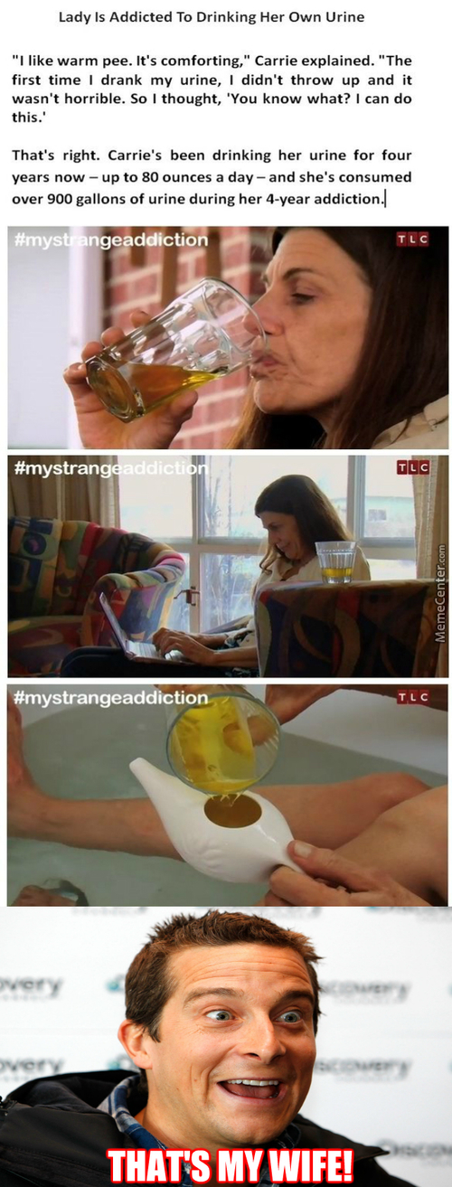 Lady Addicted To Drinking Her Urine