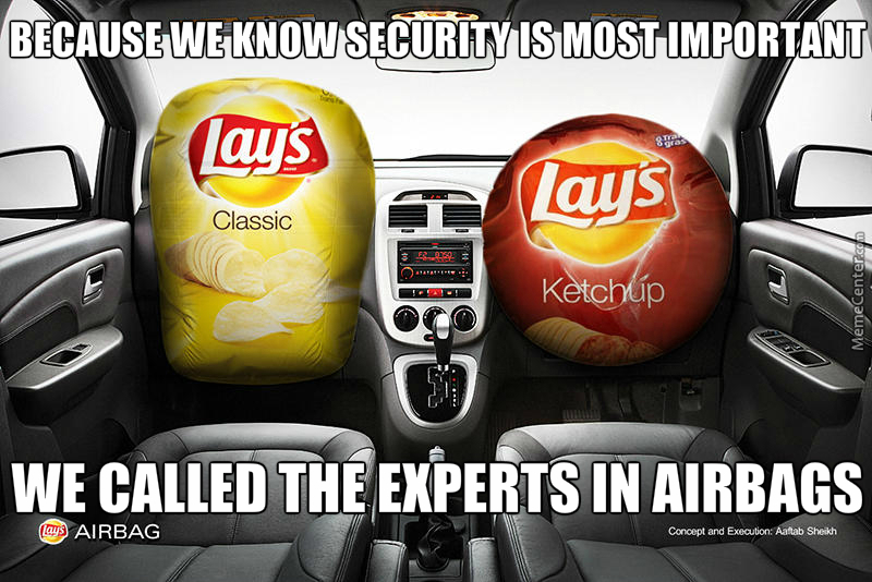 Lays Airbag, Now Available At Your Local Store. Present 3 ...