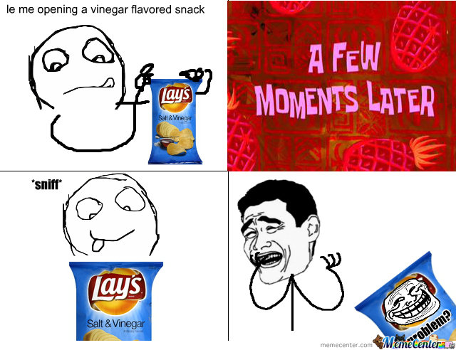 Lay's Salt And Vinegar !