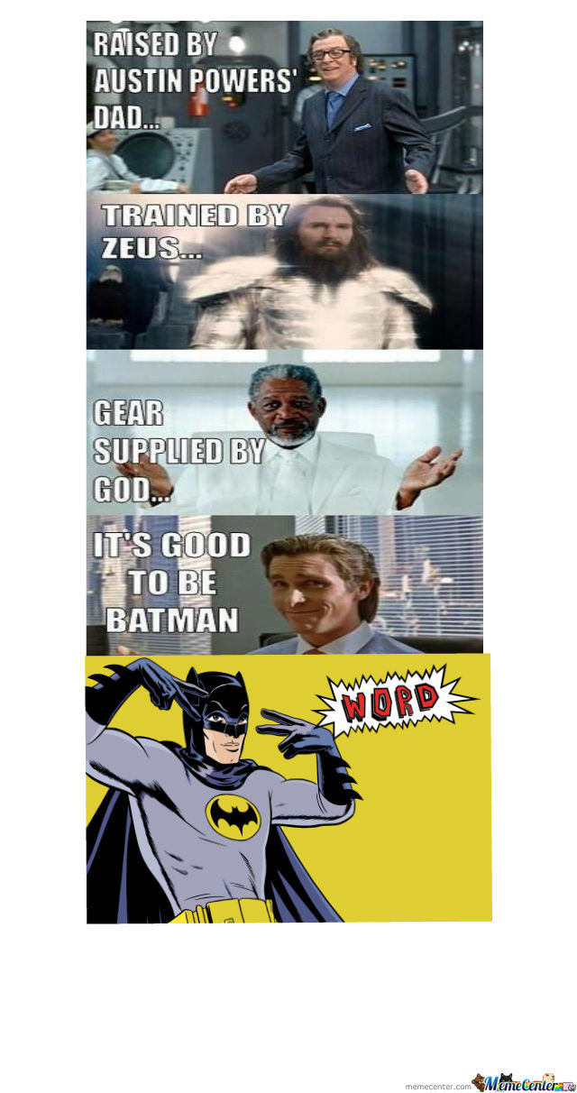 Le Its Good To Be Batman