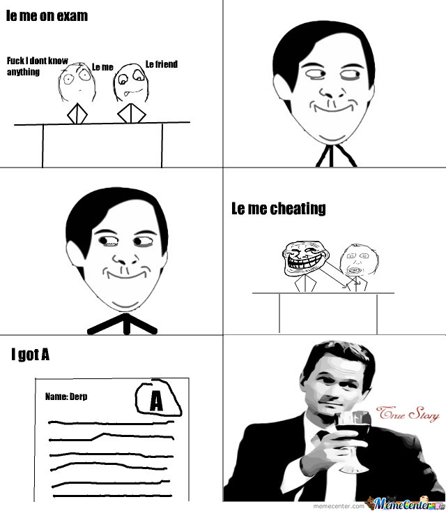 Le Me Cheating On Exam